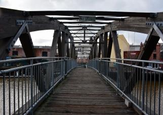 The bridge over the river in Petaluma