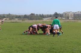 """A """"scrum"""" at a rugby game: CSUMB v. SCU"""