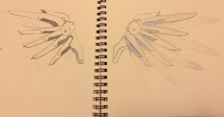 Sketch vs. Color Sketch (Base Mercy)