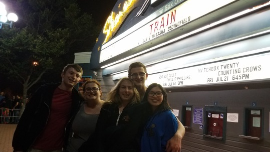 Elek, Melissa, me, Gio, and Mary at Train